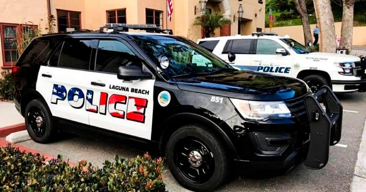 American Flag Police Car