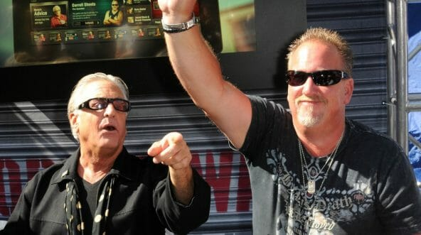 "Barry Weiss and Darrell Sheets participate in A&E's ""Storage Wars"" Lockbuster Tour."