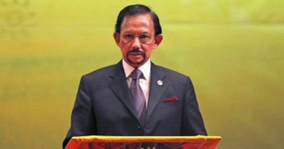 Brunei's Sultan Hassanal Bolkiah is pictured in an October 2013 file photo.
