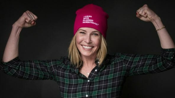 Chelsea Handler poses for the Women's March on Main during the Sundance Film Festival on Jan. 21, 2017, in Park City, Utah.