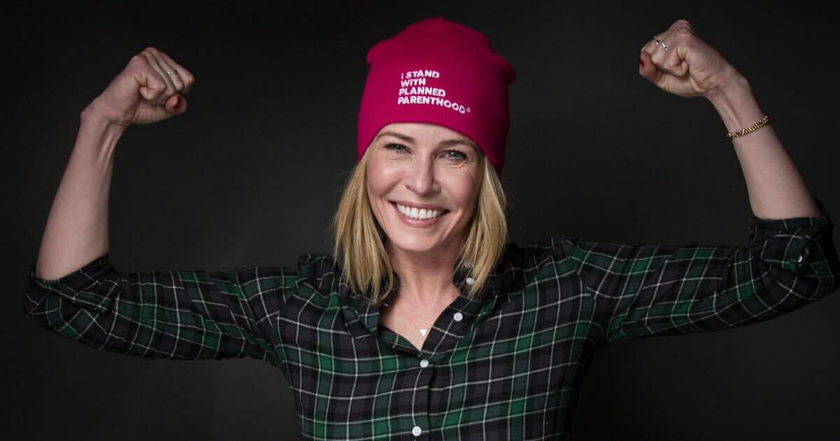 Chelsea Handler poses for the Women's March on Main during the Sundance Film Festival on Jan. 21, 2017, in Park City, Utah.