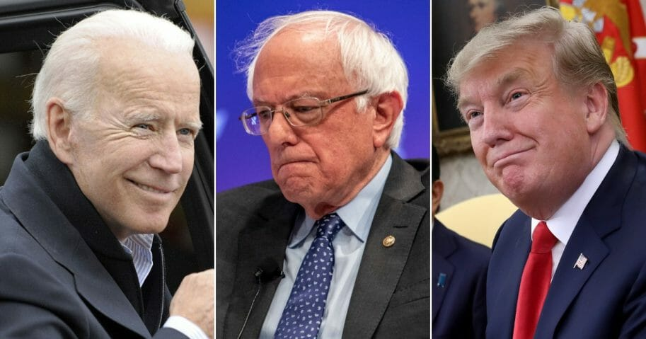 Joe Biden; Bernie Sanders; President Donald Trump