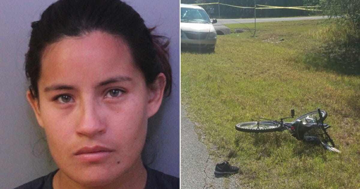 Micaela Coronel; the bike of victim Mariana Perez Borroto
