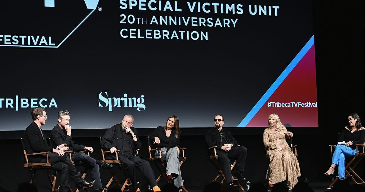 "Cast members of ""Law & Order: SVU"" speak at the Tribeca TV Festival at Spring Studios in New York City on Sept. 20, 2018."
