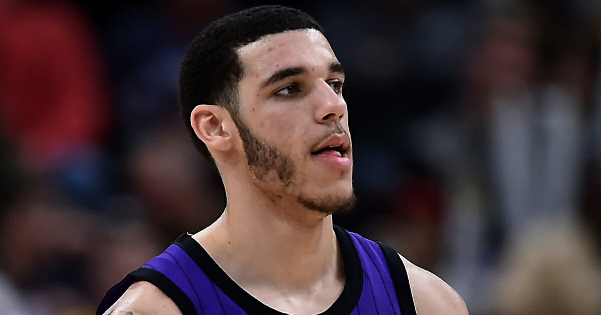 Lonzo Ball of the Los Angeles Lakers