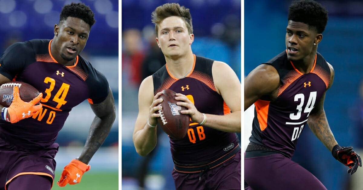 NFL prospects D.K. Metcalf, Drew Lock and Greedy Williams.