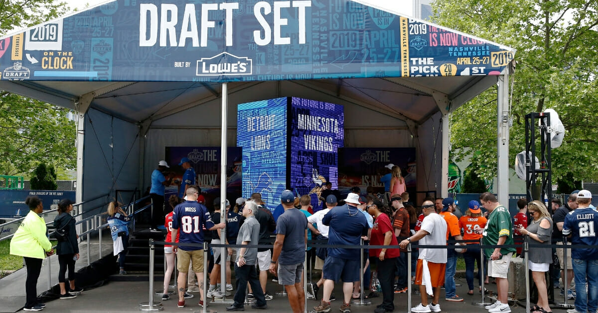 Fans attend the NFL Draft Experience on April 25, 2019, in Nashville, Tennessee.