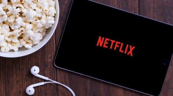 Netflix's logo on an Apple iPad mini