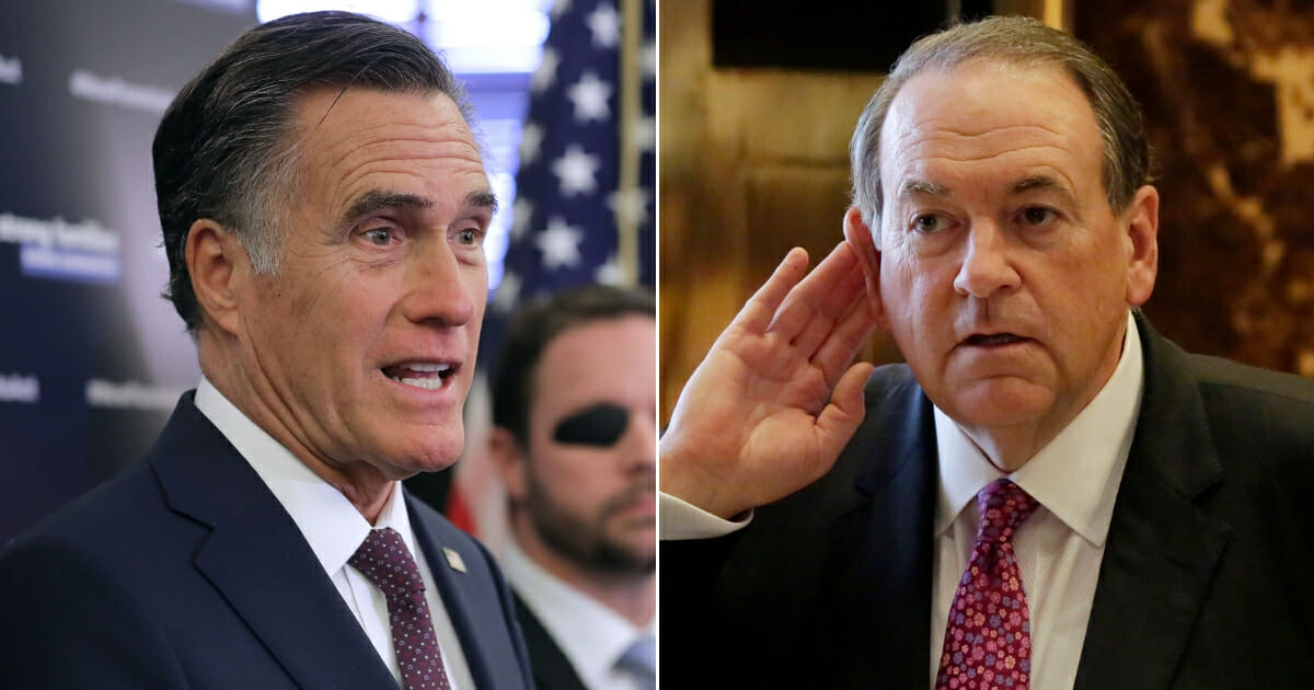 Mike Huckabee Fires Back at Mitt Romney's Claim That Trump 'Makes Me Sick'