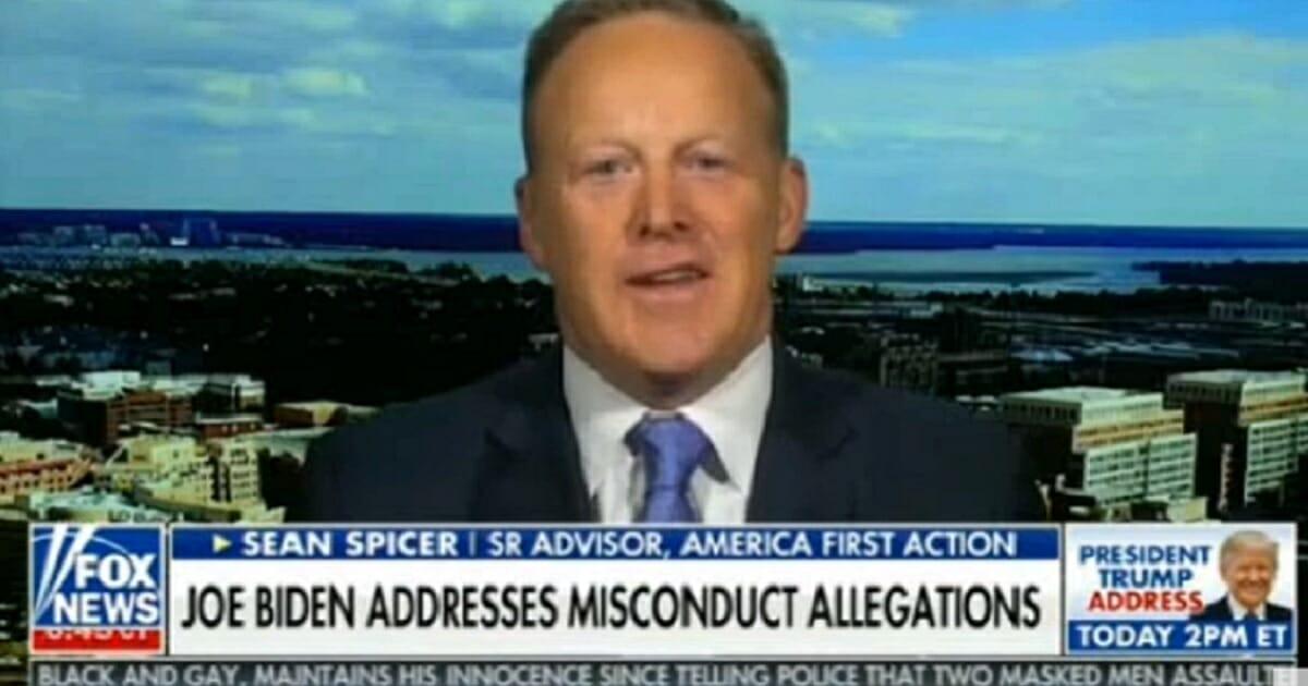 "Former White House press secretary Sean Spicer appears on ""Fox & Friends"" on Saturday."