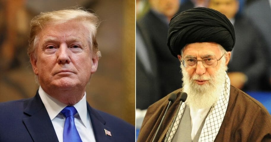 President Donald Trump; Iran's Supreme Leader Ayatollah Seyyed Ali Khamenei