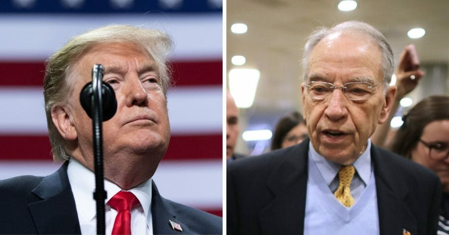 President Trump and Chuck Grassley