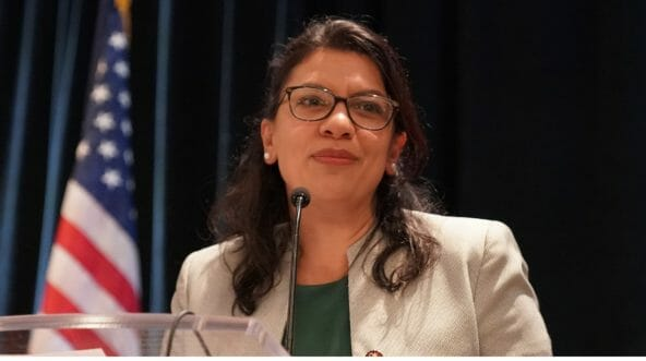 U.S. Rep. Rashida Tlaib pictured in a file photo from January.