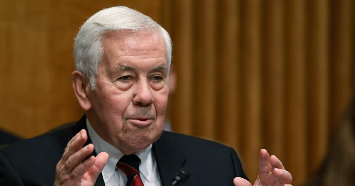 """Then-Sen. Richard Lugar delivers a March 2011 statement to open a Foreign Relations Committee hearing the uprisings racking the Middle East and North Africa during the so-called """"Arab Spring."""""""
