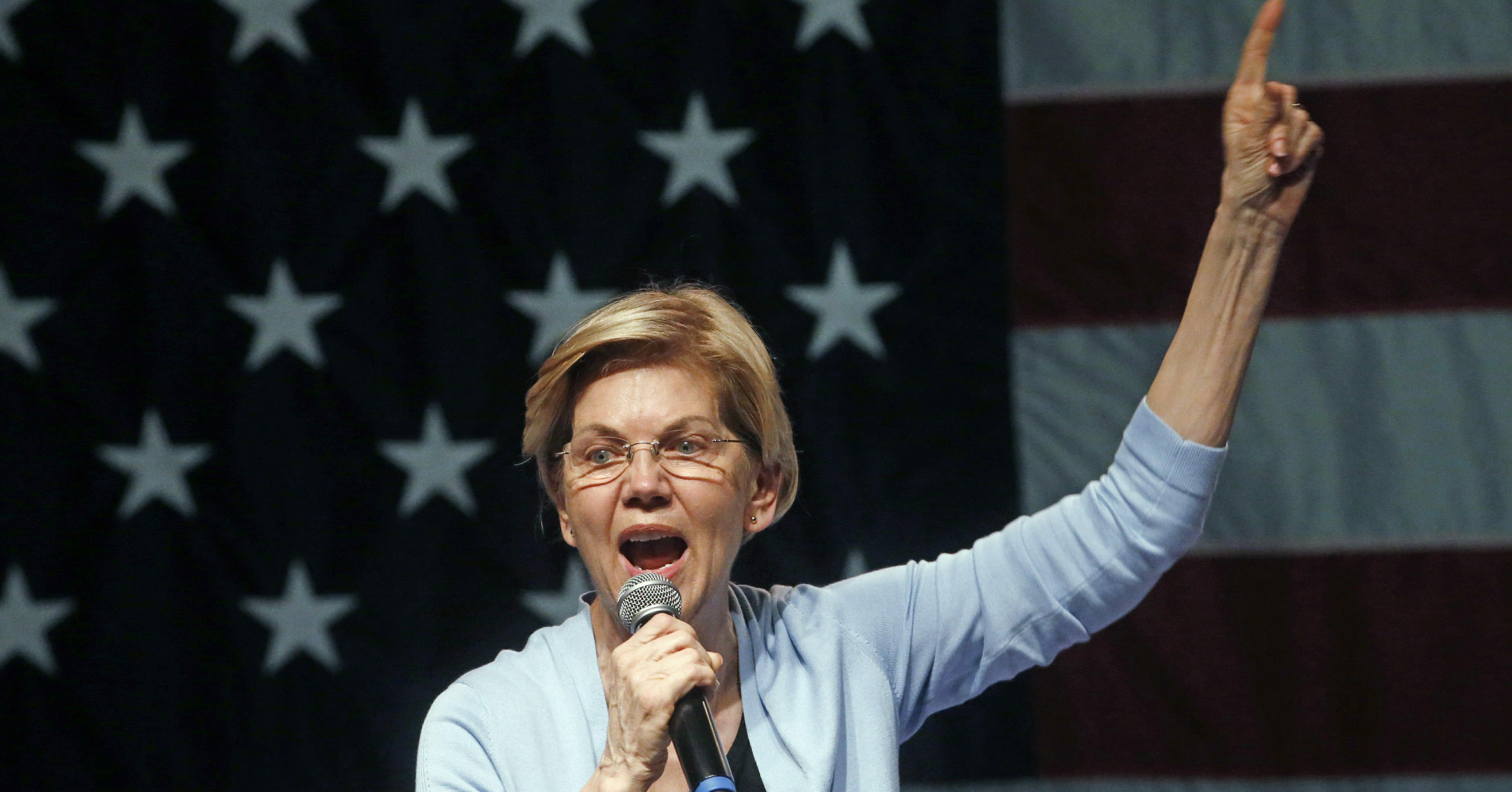 Democratic presidential candidate Sen. Elizabeth Warren speaks during a campaign rally Wednesday, April 17, 2019, in Salt Lake City.