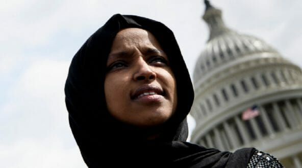 Rep. Ilhan Omar in a file photo from March.
