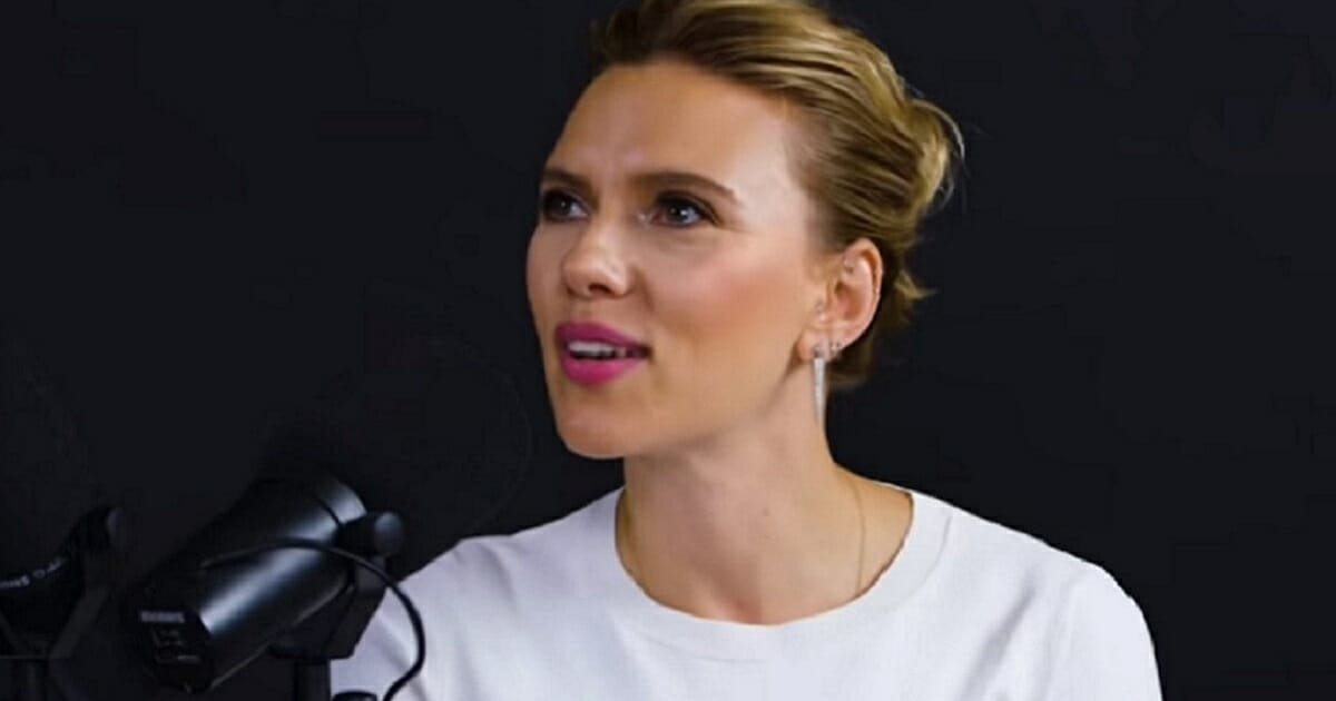 Actress Scarlett Johansson in an interview with Variety.