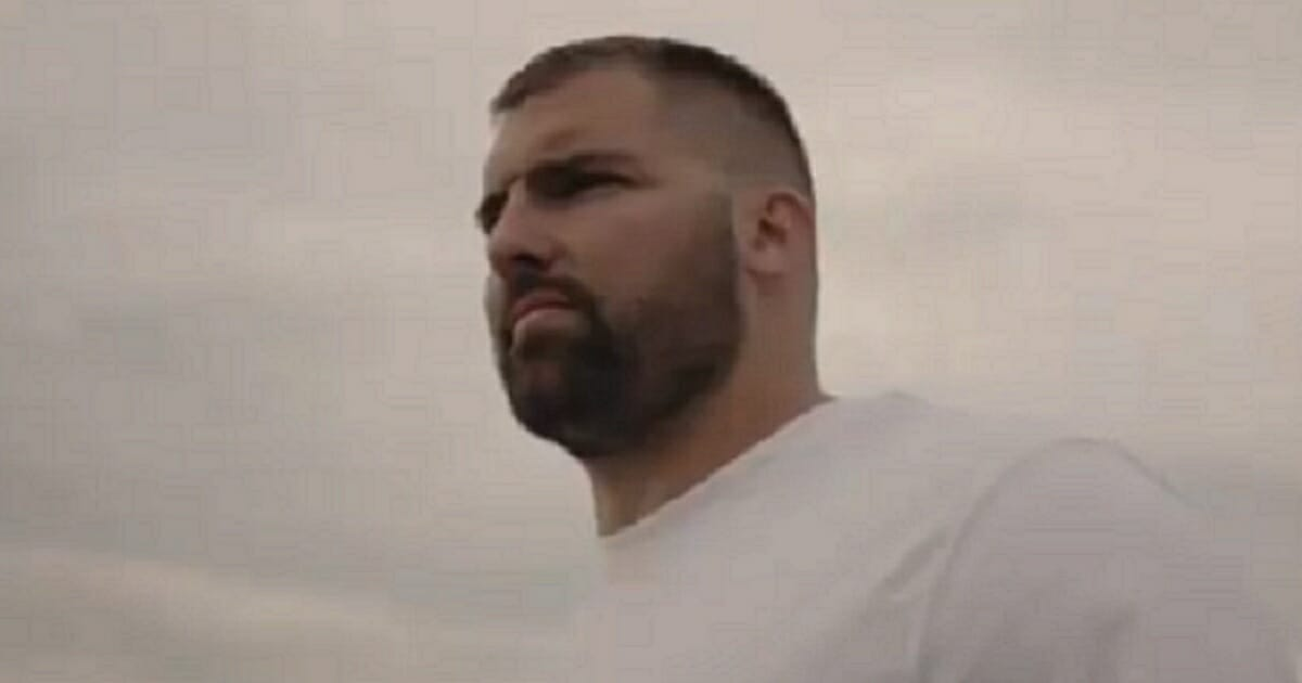 Alejandro Villaneuva is pictured under a cloudy sky.