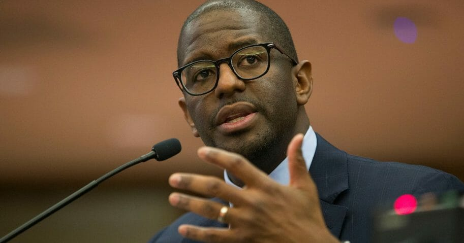 Andrew Gillum speaks during the Elections Subcommittee field hearing on 'Voting Rights and Election Administration in Florida' at the Broward County Governmental Center on May 6, 2019 in Fort Lauderdale, Florida.