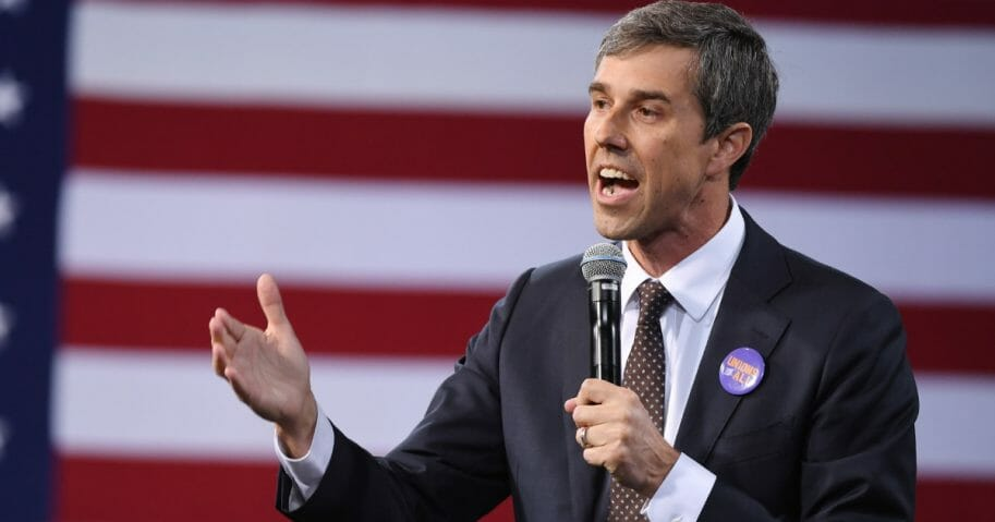Democrat presidential candidate Beto O'Rourke speaks at the National Forum on Wages and Working People: Creating an Economy That Works for All at Enclave on April 27, 2019 in Las Vegas, Nevada. (Ethan Miller / Getty Images)