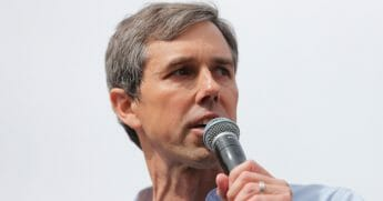 Democratic presidential candidate Beto O'Rourke speaks.