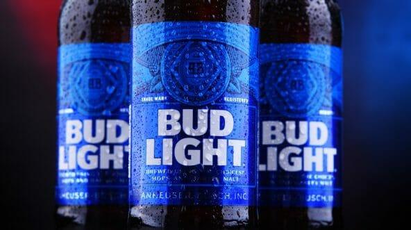 bottles of bud light beer