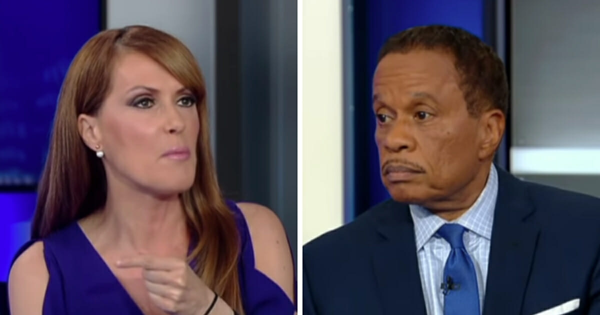 Dagen McDowell, left, launched into a justifiably righteous rant against Juan Williams', right, arrogant dismissal of the investigation into the origins of the anti-Trump dossier. (Fox News / YouTube)