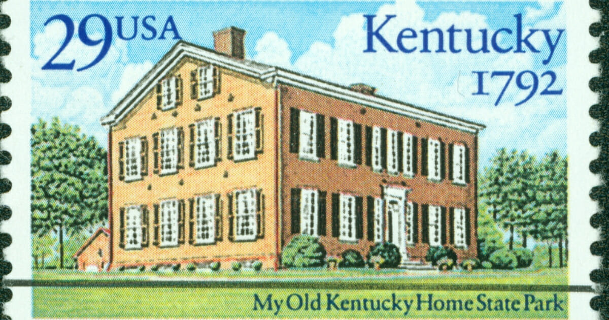 A Kentucky postage stamp