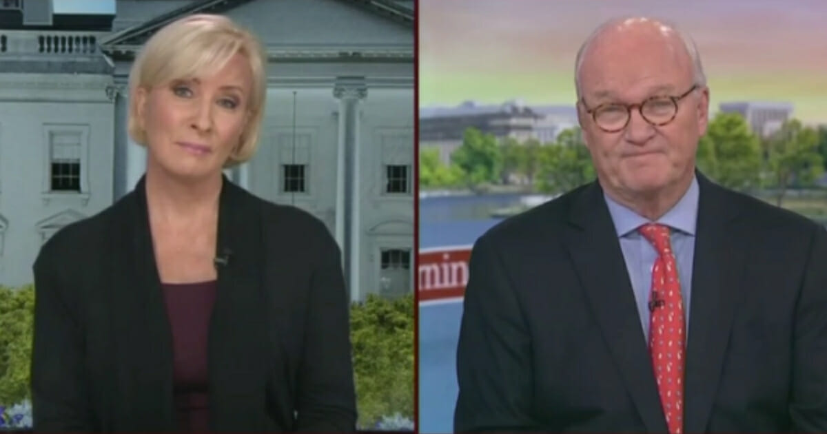 On her show's Memorial Day edition, MSNBC's Mika Brzezinski tried to bait her guests into attacking President Donald Trump. (MSNBC / MRCTV screenshot)