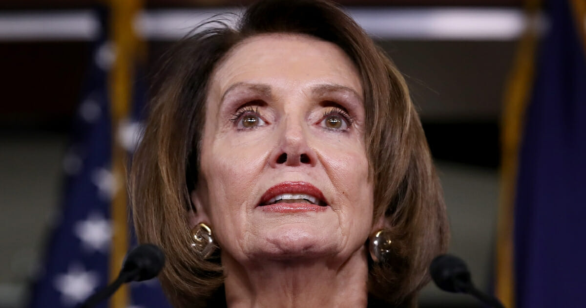 House Speaker Nancy Pelosi speaks at a news conference at the U.S. Capitol following an aborted White House meeting with President Donald Trump on May 22, 2019 in Washington, D.C.