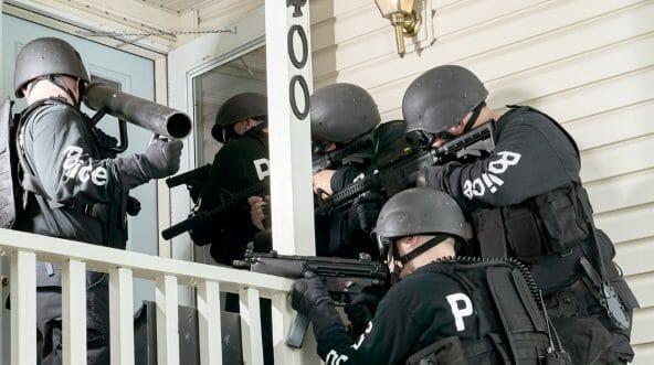 Police at front door