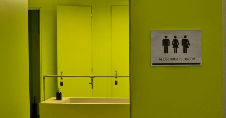 An all-gender public restroom