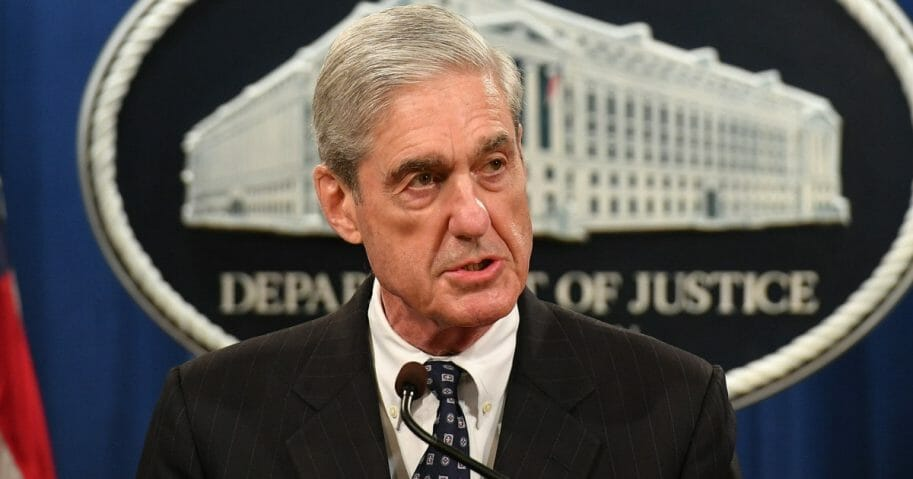 """Special Counsel Robert Mueller speaks about the Russia """"collusion"""" investigation."""