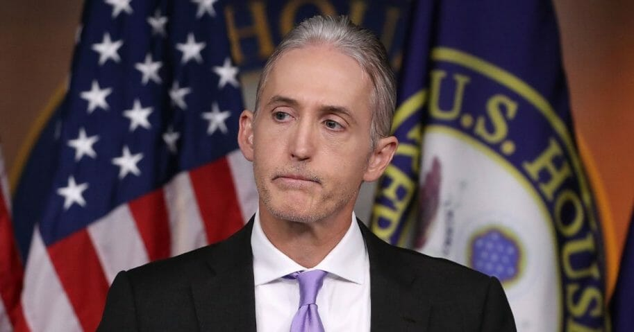 House Benghazi Committee Chairman, Trey Gowdy (R-SC), participates in a news conference with fellow Committee Republicans after the release of the Committee's Benghazi report on Capitol Hill June 28, 2016, in Washington, D.C.