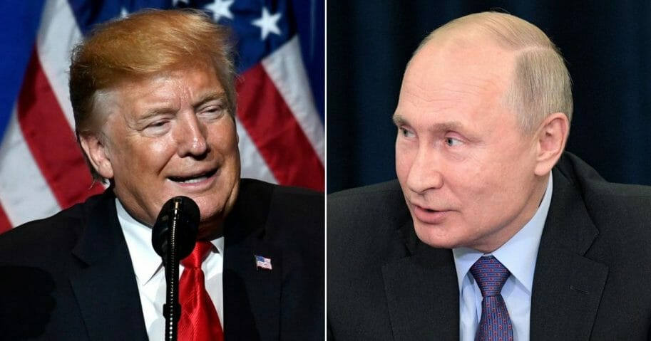 U.S. President Donald Trump; Russian President Vladimir Putin