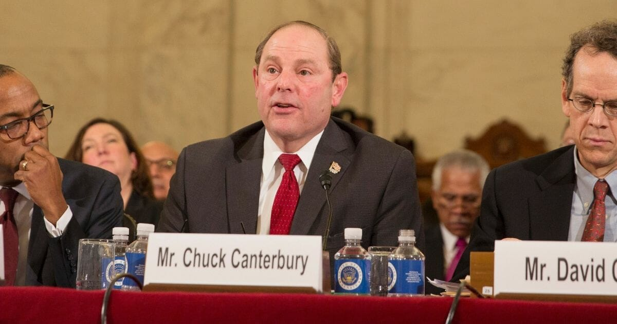 Fraternal Order of Police President Chuck Canterbury in a 2017 file photo.
