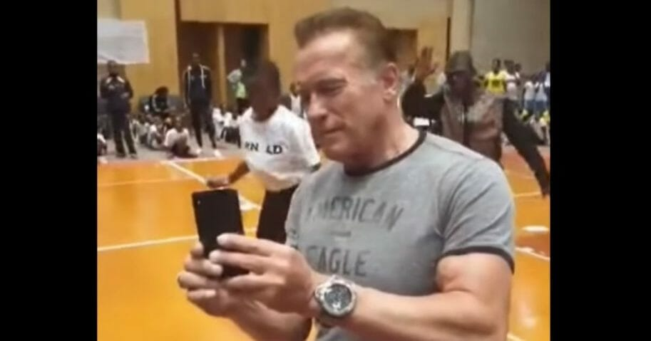 Arnold Schwarzenegger attacked in South Africa.