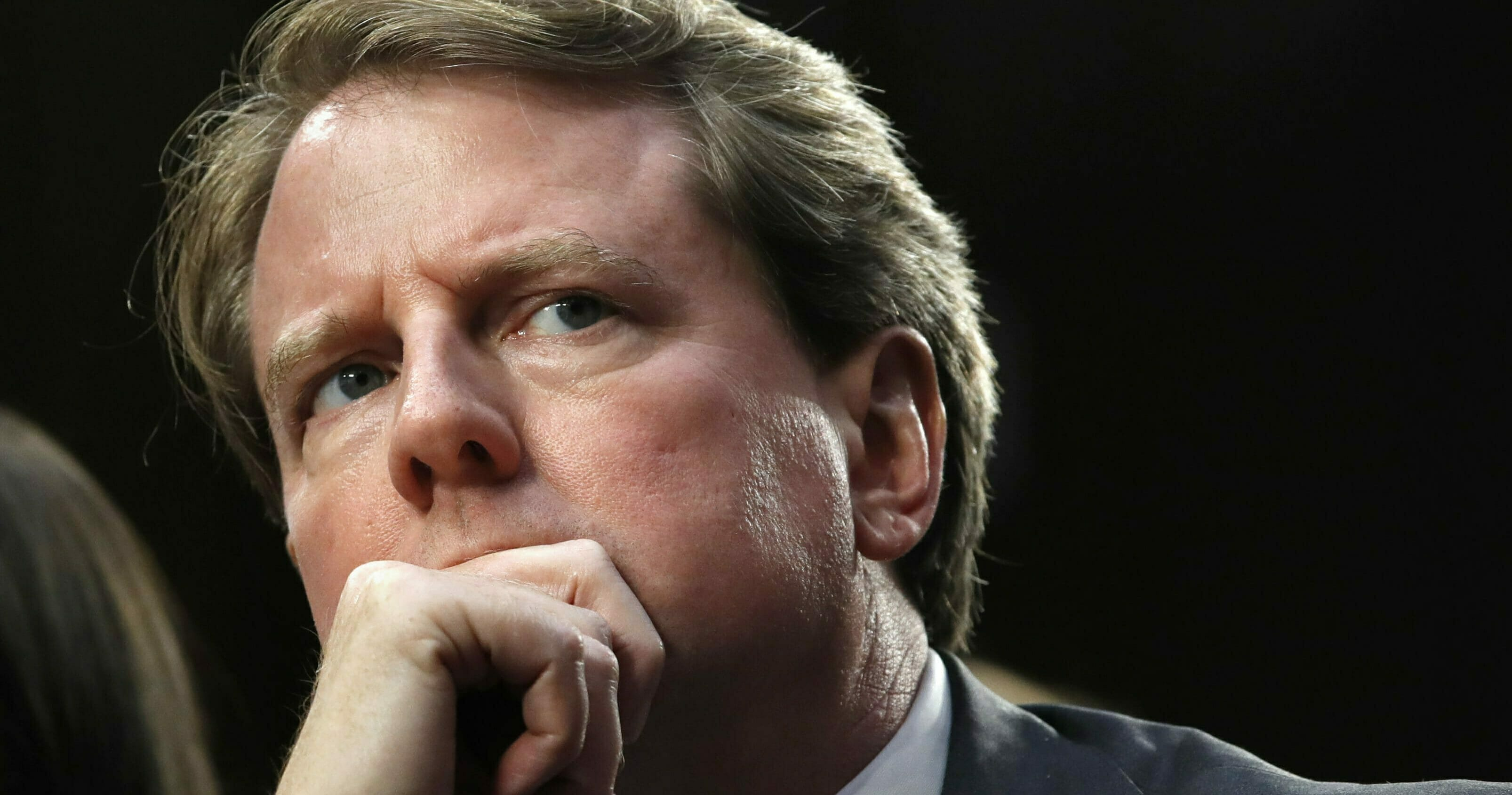 Don McGahn listens as he attends a confirmation hearing on Capitol Hill in Washington, D.C., on Sept. 4, 2018.