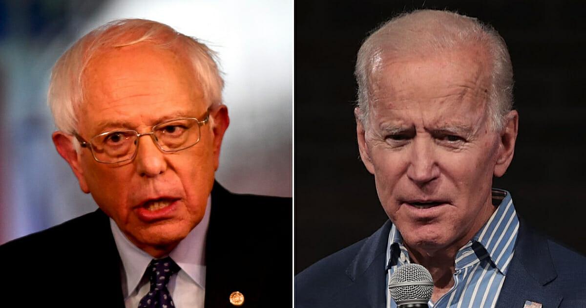 Vermont Sen. Bernie Sanders; Former Vice President Joe Biden
