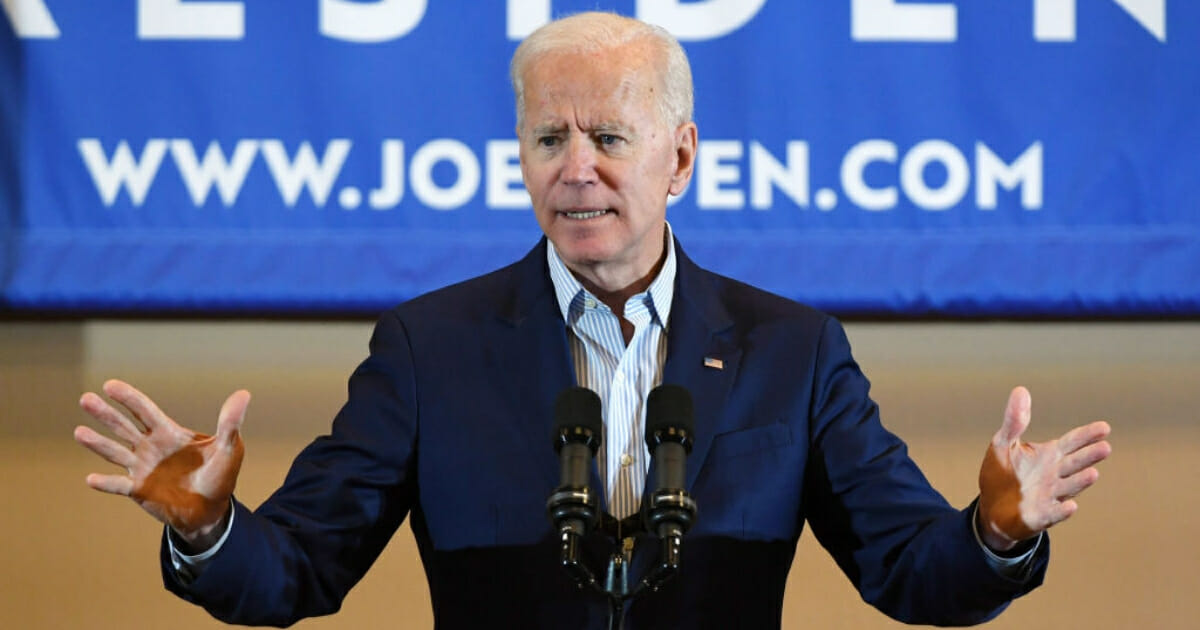 Democratic presidential candidate and former U.S. Vice President Joe Biden