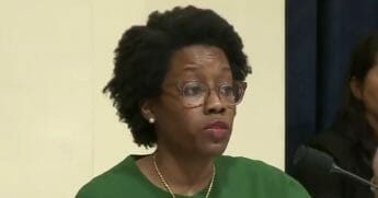 Democratic Rep. Lauren Underwood of Illinois makes remarks at a House Homeland Security Committee hearing.