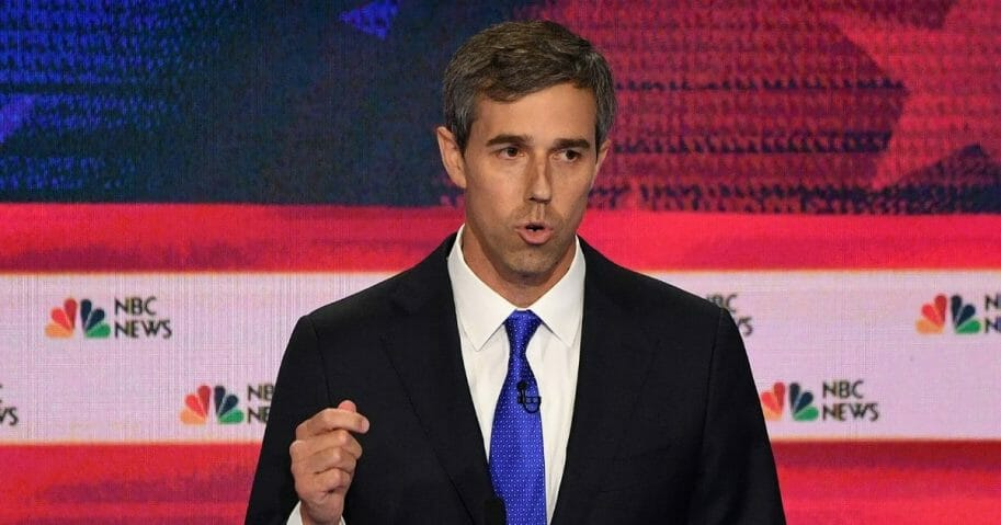 Pesidential candidate Beto O'Rourke speaks during the first Democratic debate for 2020 in Miami, Fla., on Wednesday, June 26, 2019.