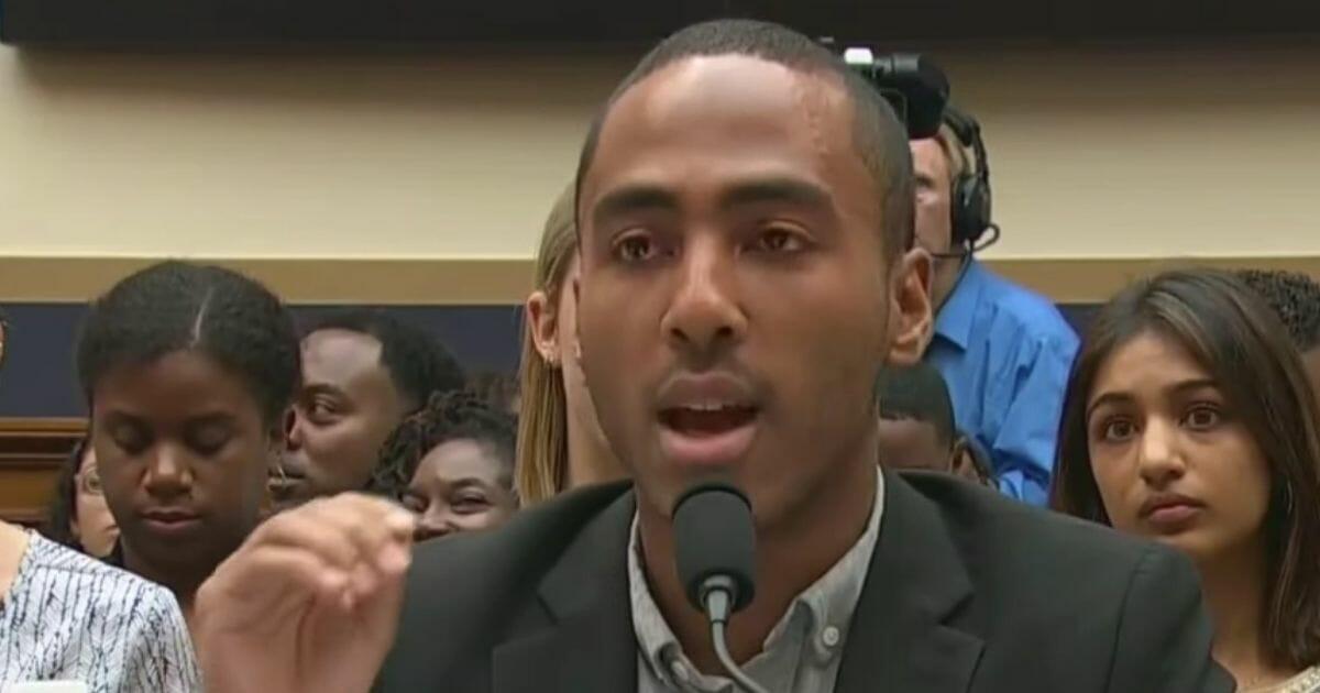 Coleman Hughes testifying.