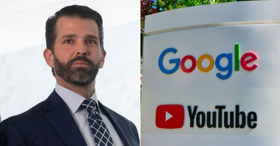 Donald Trump Jr.; a Google and YouTube sign in Mountain View, Calif.