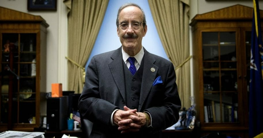New York Rep. Eliot Engel poses in his Capitol Hill office on Nov. 15, 2018, in Washington, D.C.