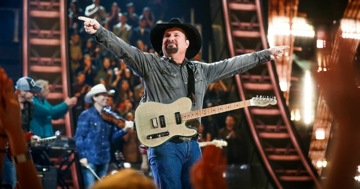 Garth Brooks performs on stage at the 2019 iHeartRadio Music Awards which broadcasted live on FOX at Microsoft Theater on March 14, 2019, in Los Angeles, California.