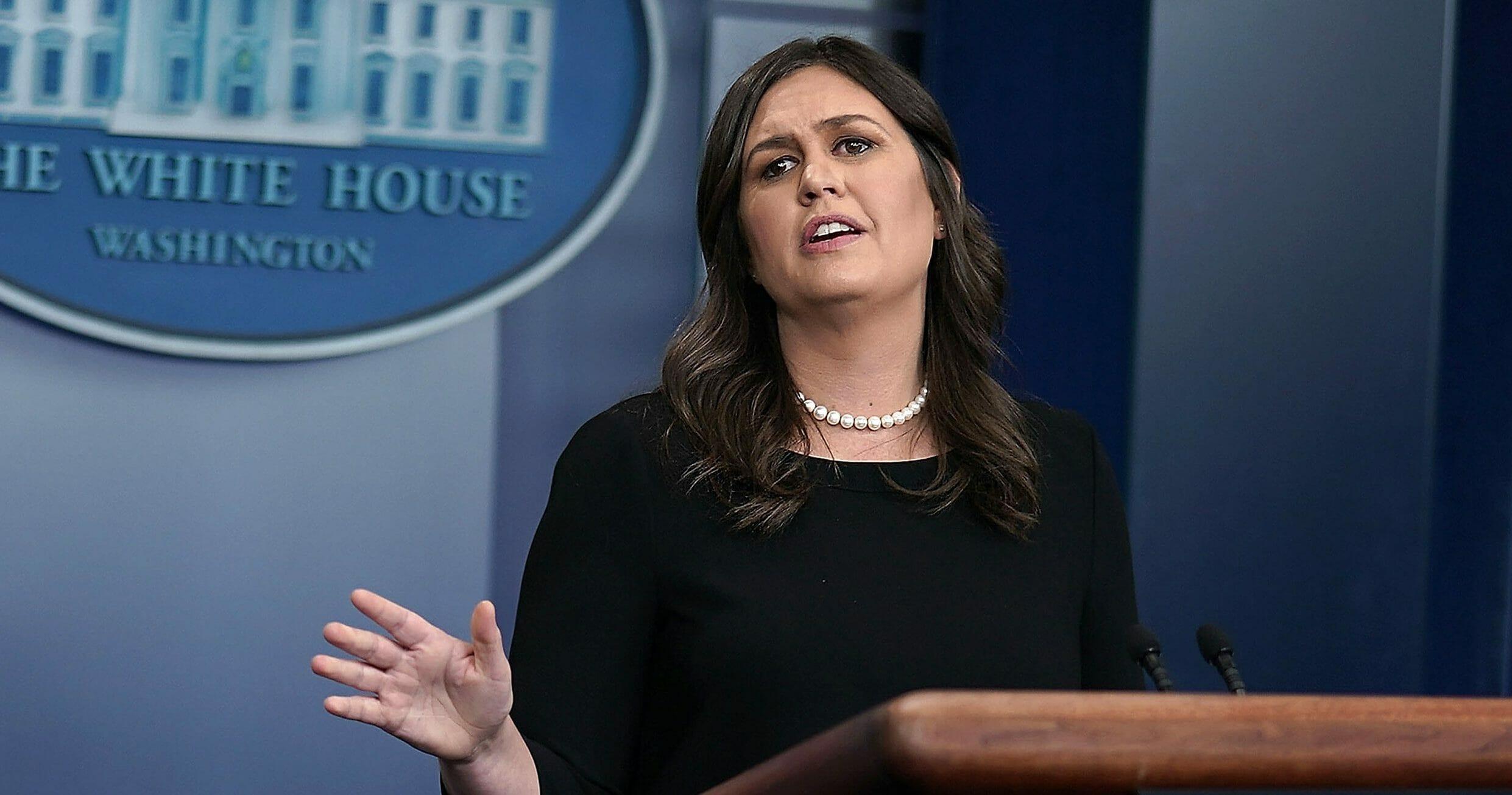 Press Secretary Sarah Sanders Holds Daily White House Briefing