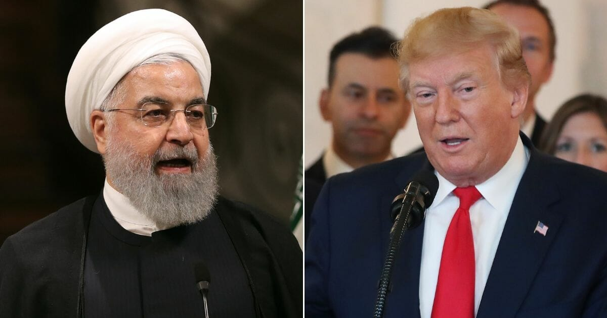 Iranian President Hassan Rouhani; U.S. President Donald Trump