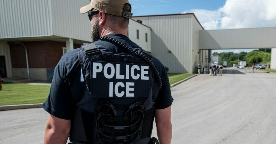 US Immigration and Customs Enforcement's special agent preparing to arrest alleged immigration violators.