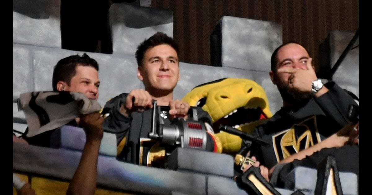 James Holzhauer at a hockey game.